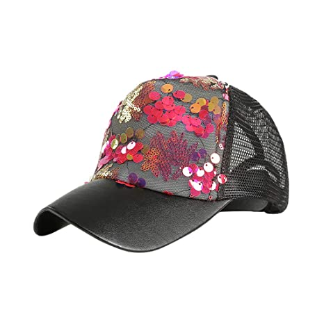 Longra💞 Women Man out Daily Lentejuelas Color Béisbol Unisex ...