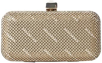 Whiting & Davis Shooting Stars Minaudiere 1-5849GL Clutch,Gold,One Size