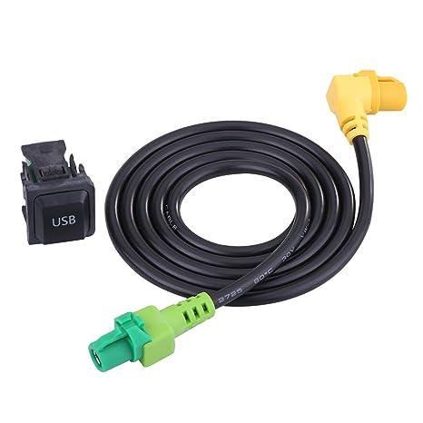 Amazon com: VGEBY Car USB AUX Switch Socket with Wire