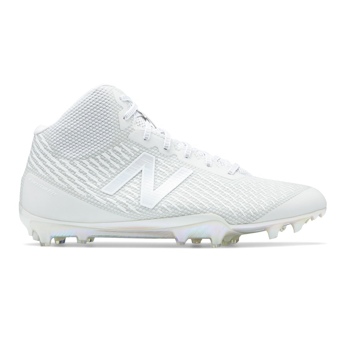 New Balance Burn X Mid Lacrosse Cleats B07DKY6GN7 9.5|White