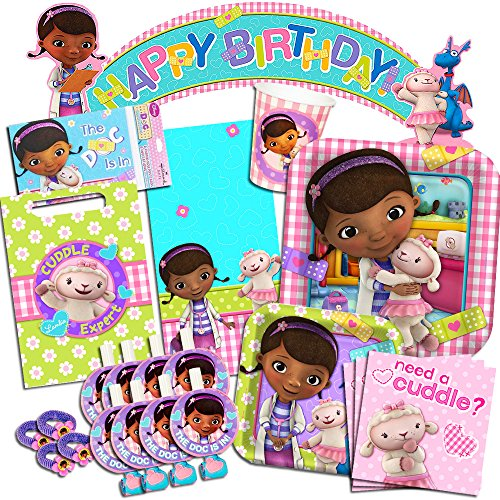 Disney Doc McStuffins Party Supplies Ultimate Set-- Birthday Party Favors, Plates, Cups, Napkins and More! by Doc McStuffins Party Supplies