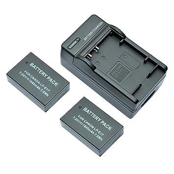 mondpalast@ 2X Reemplazo batería LPE17 LP-E17 1040mAh + ...
