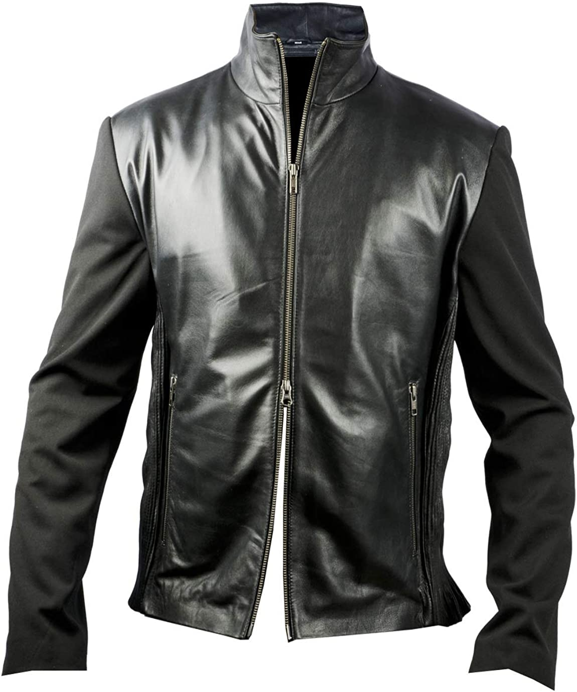 Mens Leather Jacket UZ Global Mens Silk Accession Jacket Regular Big /& Tall