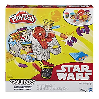 Play-Doh Star Wars Millennium Falcon Featuring Can-Heads: Toys & Games