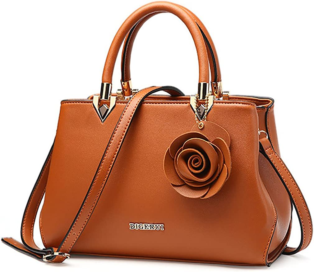 Handbags for Women,Retro Flower Crossbody Shoulder Bag Top Handle Totes Satchels
