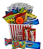 valentines day kids gift baskets - Ultimate Movie Night Gift Bundle Care Package, Easter Basket, Christmas Present, Valentines Day with Popcorn, Candy, Cookies Plus Snack Better Stress Ball for Entire Family!