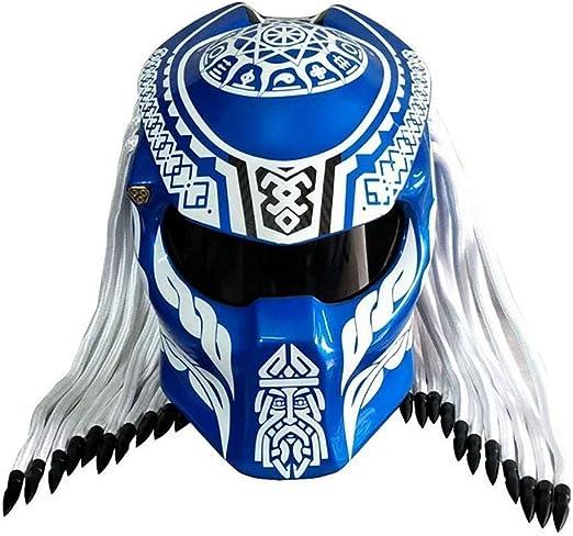AF Motocicleta Casco de Fibra de Carbono/depredador Casco Integral ...