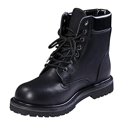 Men's Work Boots Outdoor Safety Boots Cowhide Waterproof Insulation shoes Black | Industrial & Construction Boots