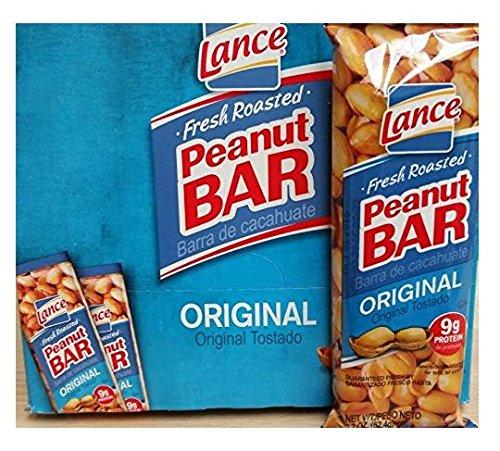 Roasted Peanut Brittle - Lance Peanut Bar 2.2 OZ 21 Count