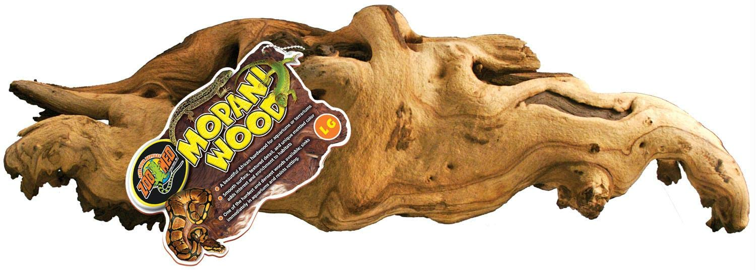 2 Pack Zoo Med Reptile Mopani Wood For Aquariums Size
