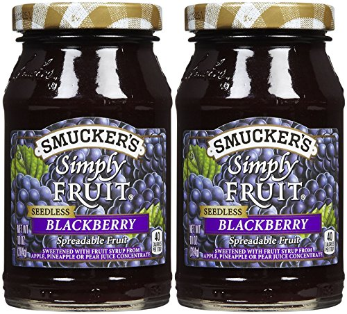 Smucker's Simply Fruit Seedless Blackberry Spread, 10 oz, 2 pk by Smucker's