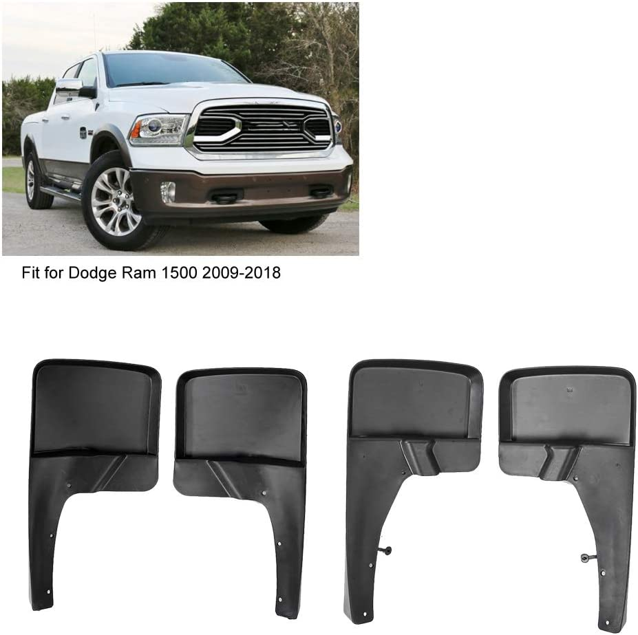 For 2009-2018 Dodge Ram 1500 2500 3500 4PCS Front Rear Mud Flaps Splash Guards