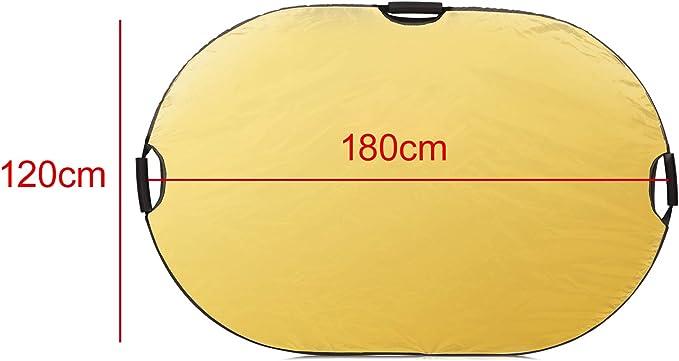 Selens 120x180cm 5 en 1 Reflector de Luz Oval Plegable Portátil ...