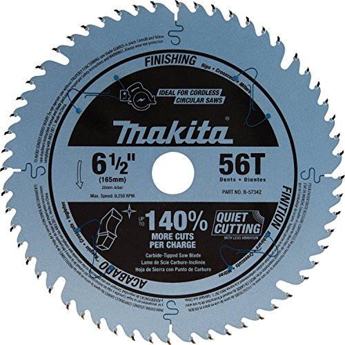 Makita B-57342 6-1/2 inch 56T Carbide-Tipped Cordless Plunge Saw Blade