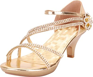 185cbd585d1 Cambridge Select Women s Open Toe Crisscross Strappy Crystal Rhinestone  Flower Platform Low Kitten Heel Sandal