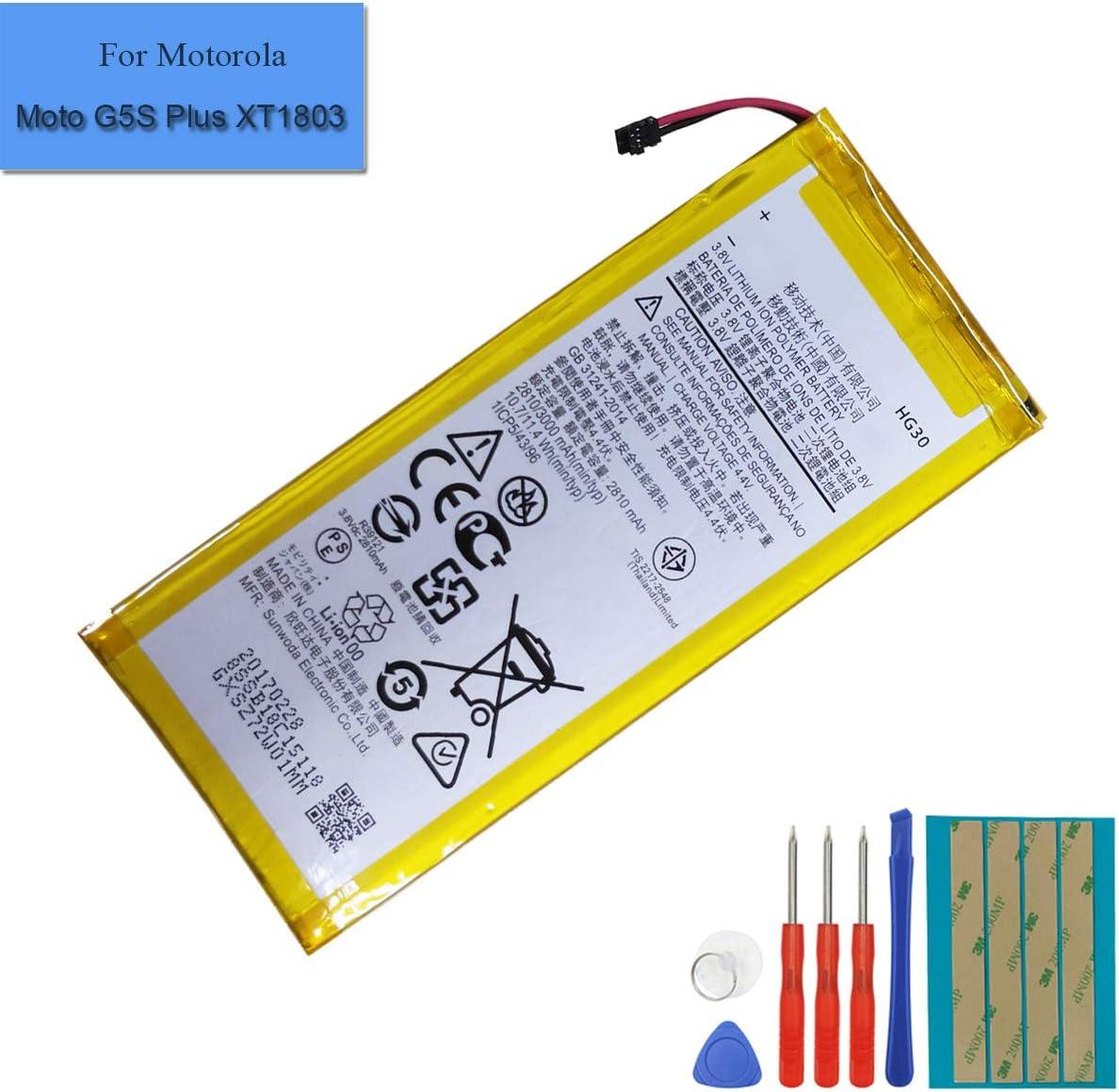 for Motorola Moto G6 XT1806 Replacement Battery HG30 Free Adhesive Tool