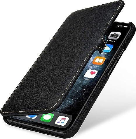 StilGut Custodia Compatibile con iPhone 11 PRO Max Cover in Pelle a Libro, Nero con Clip