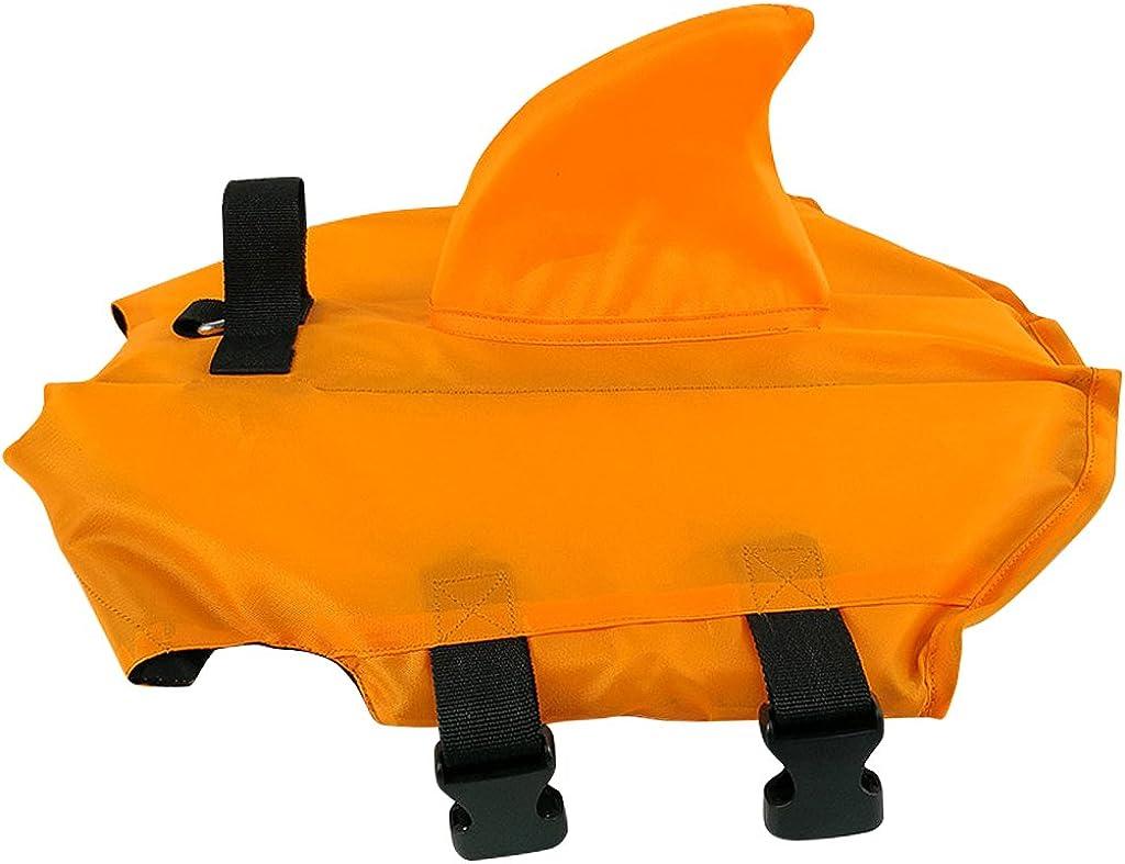 Perro Chaleco Salvavidas Chaleco de Flotaci/ón para Nadando Chaleco Flotante con Hebilla Ajustable Azul Naranja Multi-tama/ño Hony Mascota Salvavidas La Seguridad
