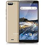 Blackview A20 Smartphone 3G, 5.5 Pollici HD Schermo Android Go Telefono Cellulari, MTK6580 Quad Core 1.3GHz, 1GB RAM + 8GB ROM, 5MP+0.3MP +2.0MP Camera,Smartphone Dual Sim, Wifi,GPS Cellulare - Oro