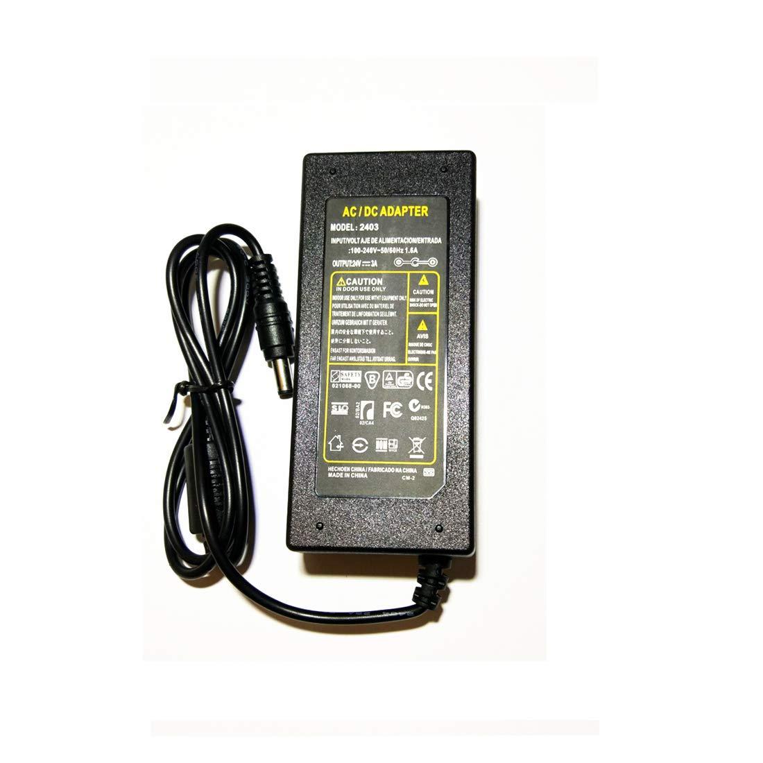 Netzteil 24V 3A 72W Netzadapter Transformator Trafo f/ür LED Strip Streifen Light Lichterkette,Kamera,LCD Monitor