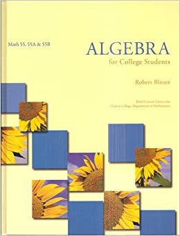 ALGEBRA F/COLLEGE STUDENTS-W/C: Robert Blitzer