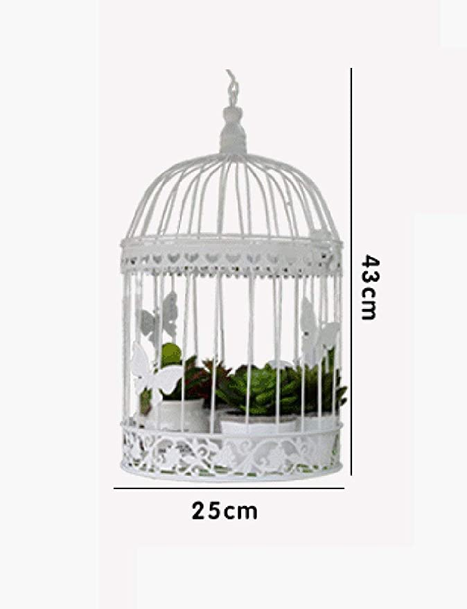 Flores Estante de Maceta Jaula de Pájaros Decorativa Marco de ...