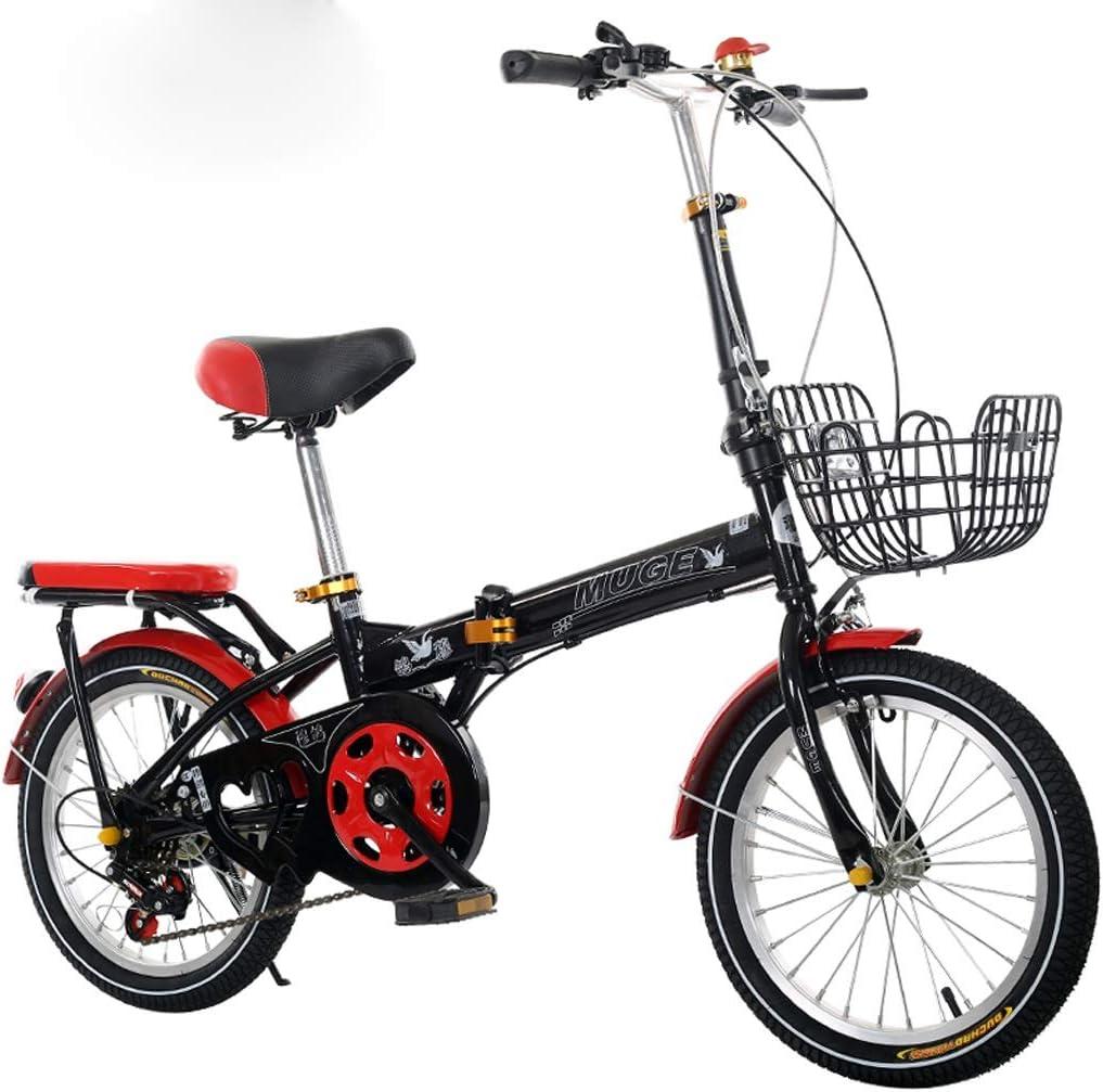 Bicicleta Plegable de 16 a 20 Pulgadas, Velocidad Variable, niños, Hombres y Mujeres, niños, Estudiantes, Adultos, Viajes, Bicicletas portátiles ultraligeras A ++: Amazon.es: Deportes y aire libre