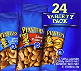 Planters 884624 Variety Pack Peanuts & Cashews 1.75 oz/1.5 oz Bag 24/Box