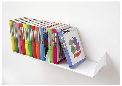 Teebooks mensole bd acciaio bianco cm amazon
