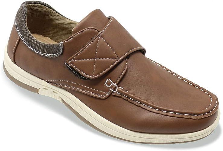 Mens Wide Fit Boat Shoe Touch Fasten