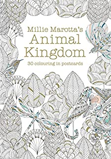 Millie Marottas Animal Kingdom Postcard Book 30 Beautiful Cards For Colouring In Books