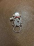 TUSHUO Dainty White Rhinestone Monkey Magnetic Clip