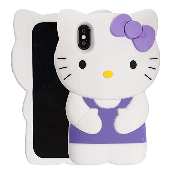 ddeeda6a36a52 Case for iPhone XR 6.1 inch,Phenix-Color 3D Cute Cartoon Soft Silicone  Stitch Hello Kitty Love Bear Gel Back Cover Case for iPhone XR 6.1 inch  (#42)