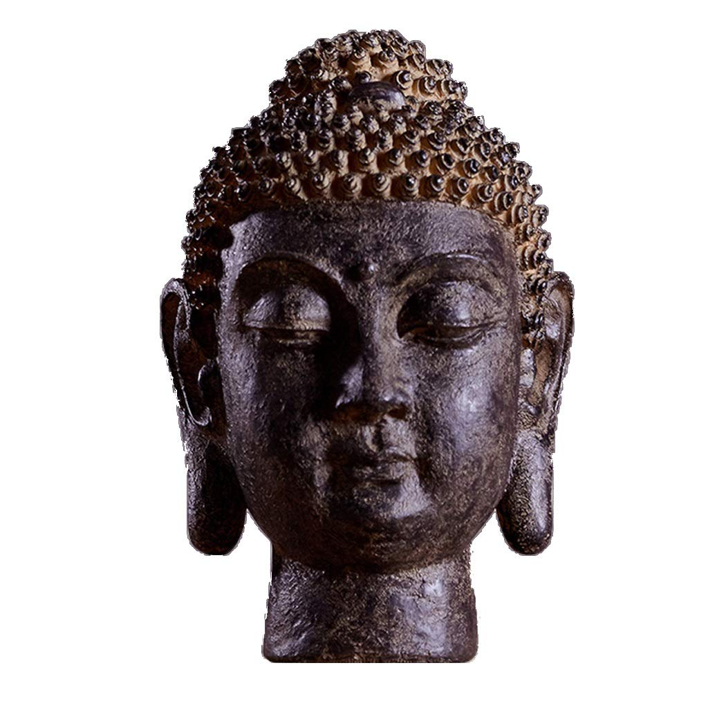 MLMHLMR Buddha Head Sculpture Ornament Indoor Outdoor Courtyard Home Crafts (Color : A)