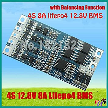 LiFe 4S 8A 12.8V LiFePO4 Battery PCM Protection W//Balance Module BMS 18650