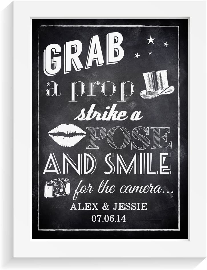 Blackboard Congrats On Engagement Selfie Frame Poster