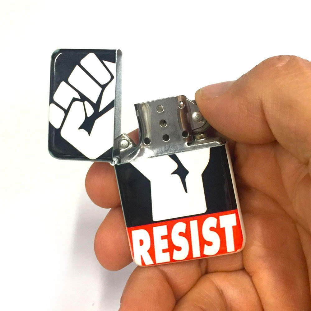 Resist flip lighter