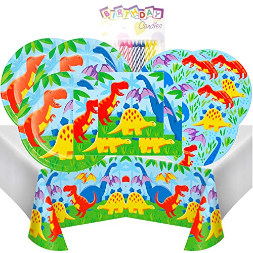 Dinosaur Friends Themed Party Pack - Includes 24 9