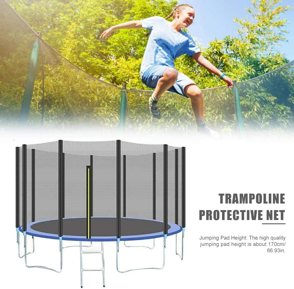 for Indoor and Outdoor Jumping Bed Trampoline Protective Net 6ft 8ft 10ft 12ft 13ft 14ft 15ft 16ft Replacement Protective Enclosure Safety Net UV Resistant