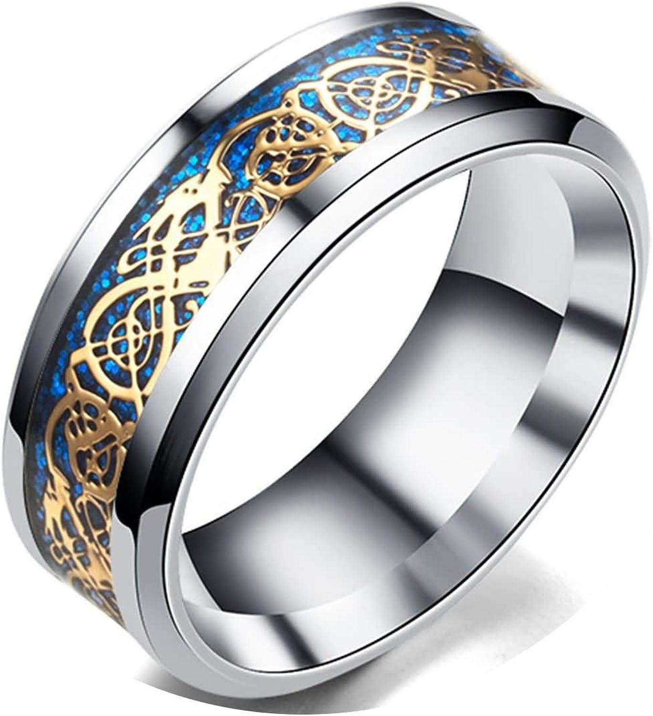 Drachenschuppe Drachen Muster schraeg Kanten keltisch Ringe Schmuck Hochzei O4S3