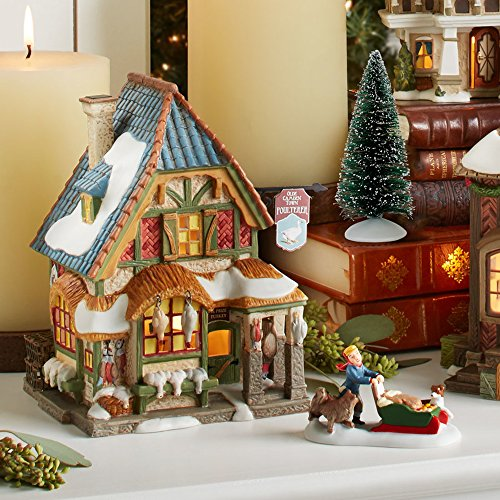 Department 56 Dickens A Christmas Carol Poulterers Shop Lit Building and Fresh Fallen Snow Village Set, Multicolor by Department 56 (Image #2)