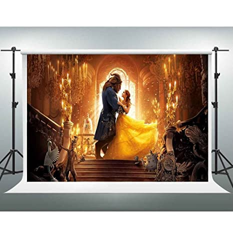amazon com gesen beauty and the beast backdrop 7x5ft american