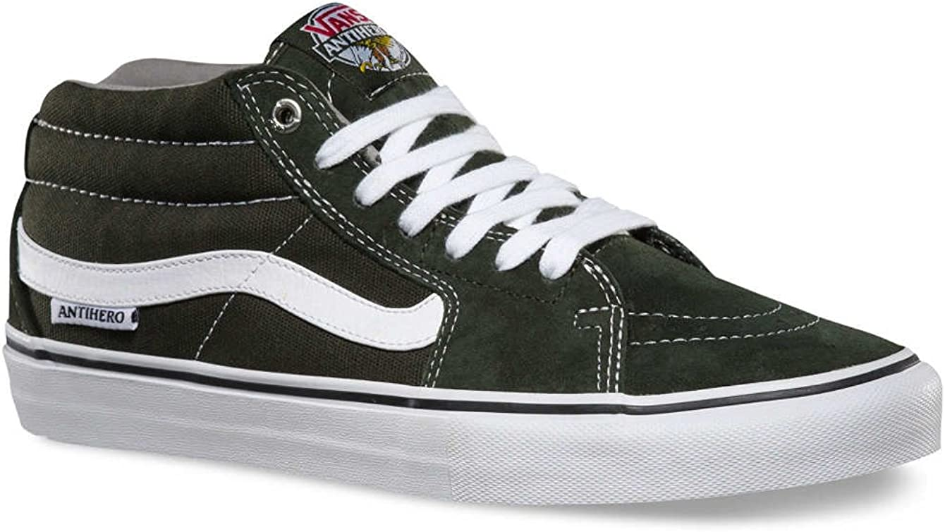 Vans Chaussures SK8 Mid Pro Anti Hero Green Grosso