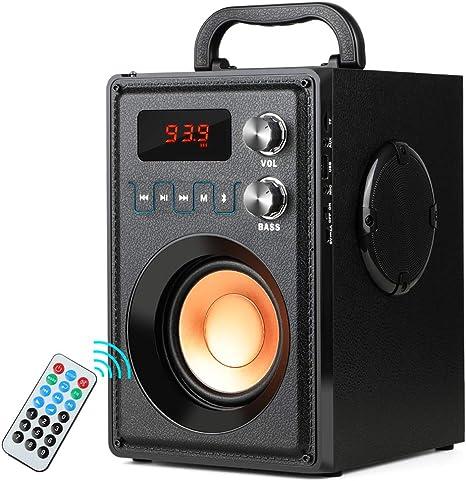 TF Card and USB FM Radio,Portable Indoor//Outdoor Wireless Bluetooth Speaker