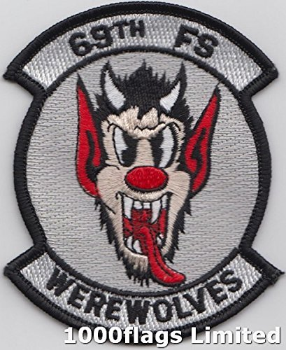 Us Air Force Squadron Patches - 69th Fighter Squadron US Air Force Werewolves Embroidered Patch