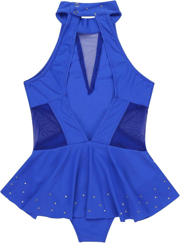 CHICTRY Girls Sparkly Cross Back Figure Ice Skating Dress Athletic Ballet Tutu Leotards Dancewear