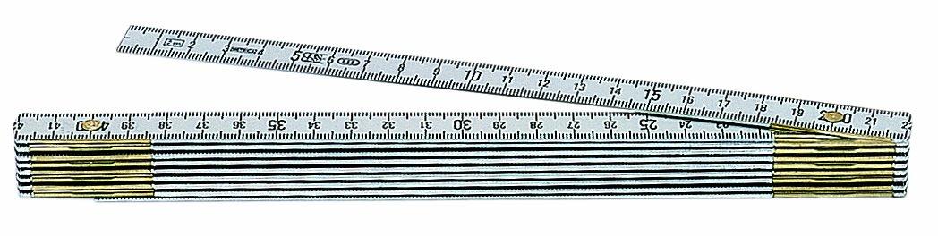 Metrica 21035 2 m Alu-Gliedermassstab Oxyd