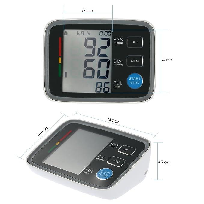 Anself U80EH - Tensiómetros de brazo automático,LCD pantalla: Amazon.es: Salud y cuidado personal