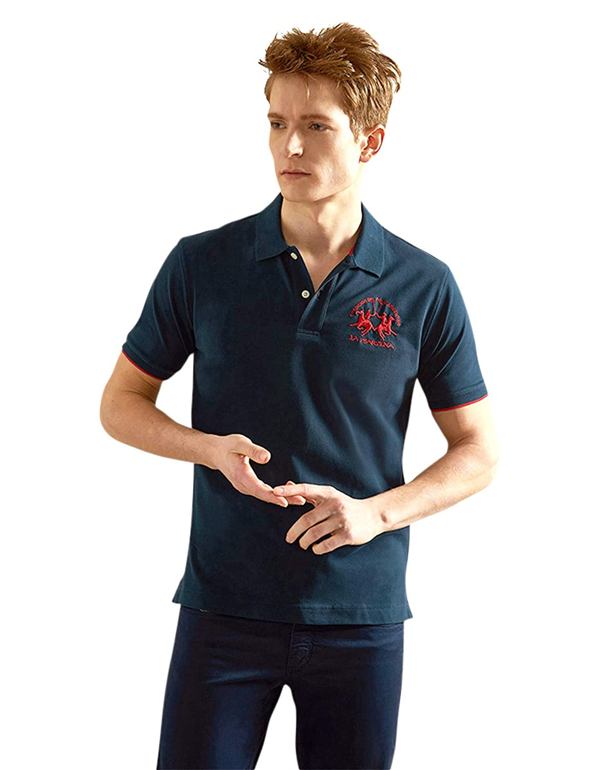 La Martina Man Polo S/s Piquet Str, Azul (Navy 07017), XXXX-Large ...