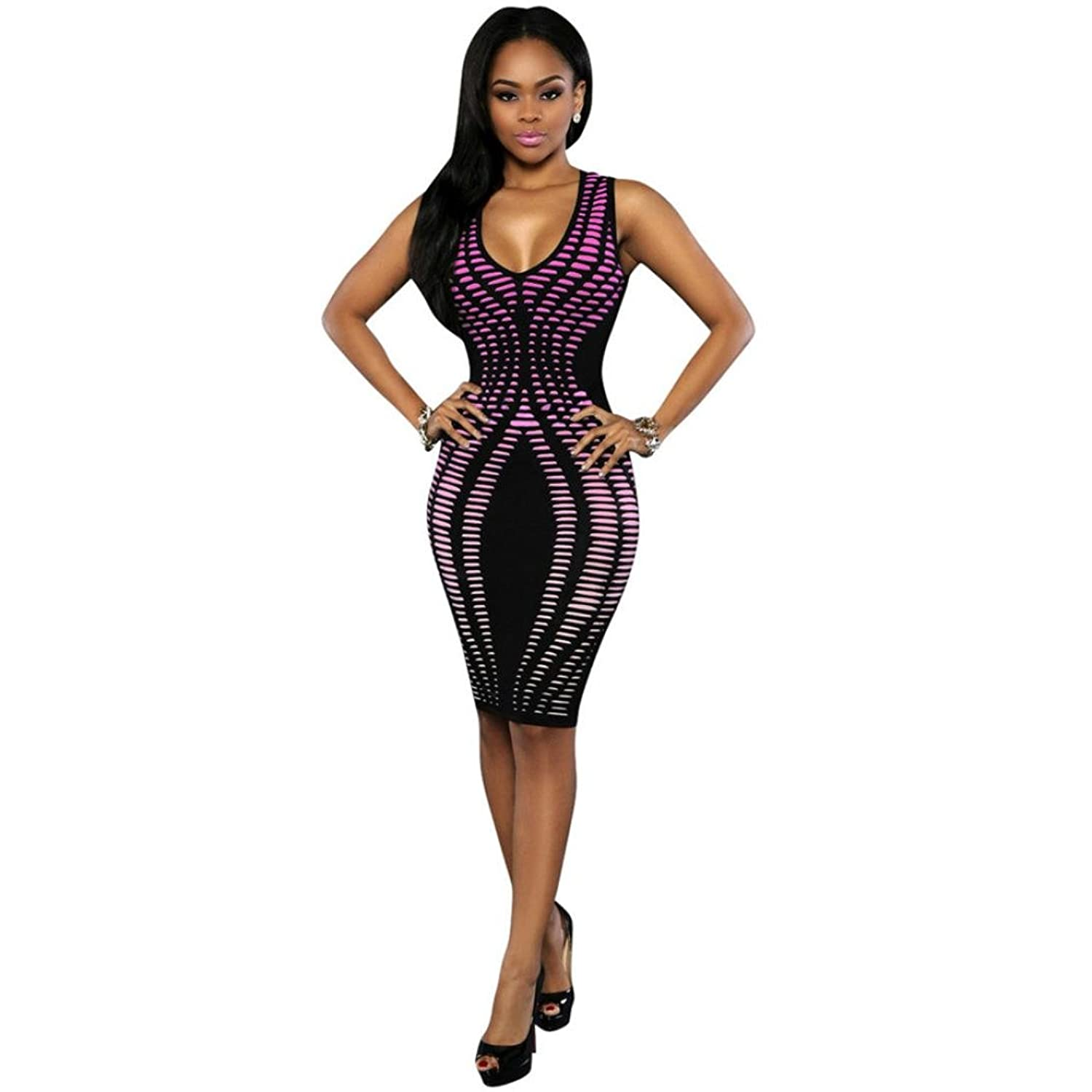 Women Evening Party Dresses, Bolayu Sexy Bandage Cocktail Bodycon Dress